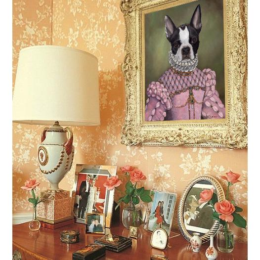 boston terrier wall art