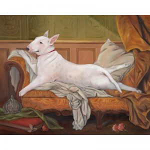 bull terrier wall art