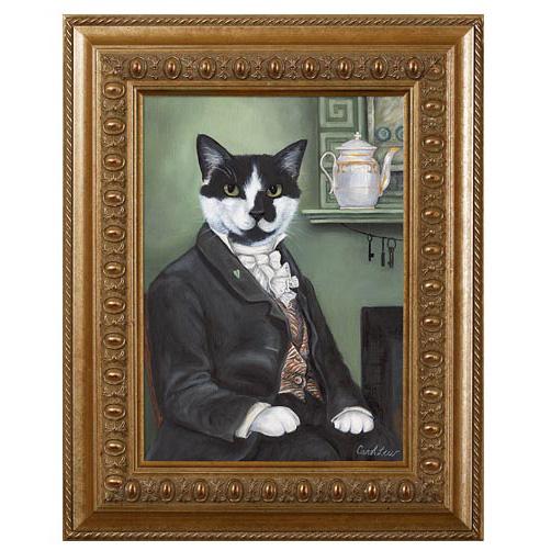 cat art black and white