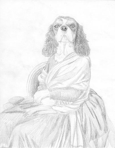 cavalier spaniel art
