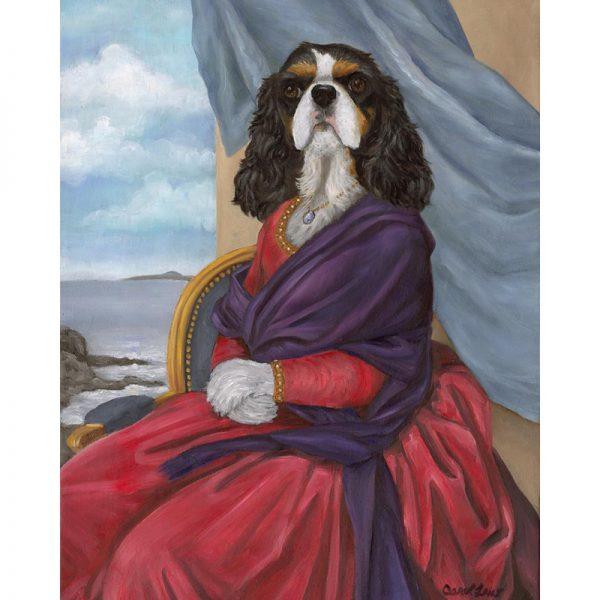 cavalier king charles print