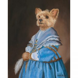 yorkie canvas prints
