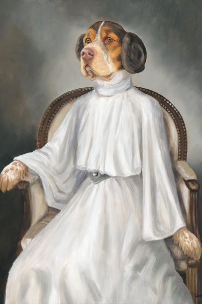custome dog canvas art